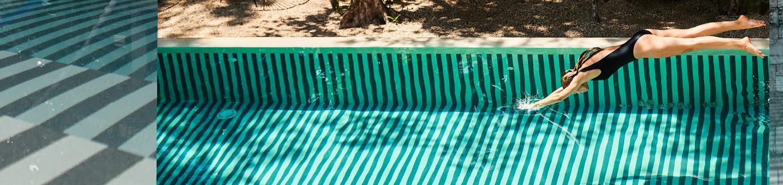 Water aerobics swimsuits