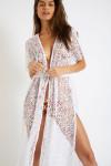 Tunique beachwear longue blanche ELVIE SEETHROUGH