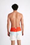 Maillot de bain homme tricolore orange MANLY MULTICOLO